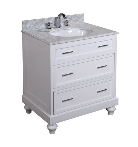 soft close cabinets and drawers amelia 30 inch bathroom vanity carrera white includes a