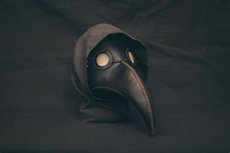 Payday 2 Halloween Masks by Plague Doctor Mask Leather Black Medieval Bird Mask