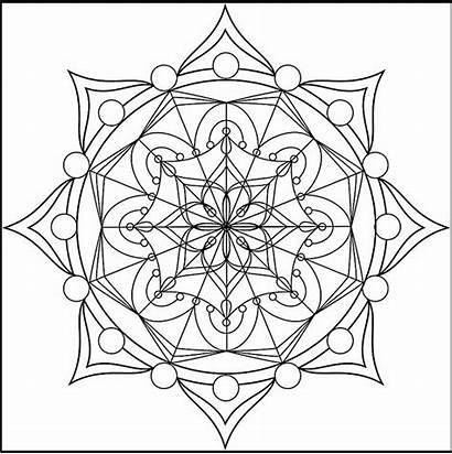 Mandala Coloring Pages Adults Geometry Sacred Adult
