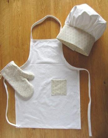 tablier de cuisine couture set cuisine tablier et toque de cuisinier enfant coton en