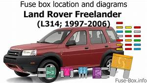 Fuse Box Location And Diagrams  Land Rover Freelander  1997-2006