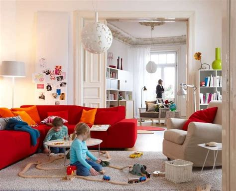 pop living room red sofa image photos pictures ideas