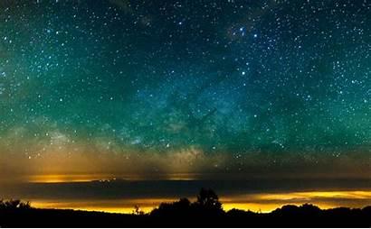 Pretty Night Galaxy Animated Giphy Stars Sky