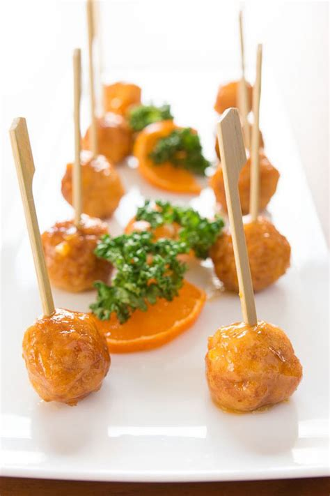 savoury canapes orange chicken polpettine recipe fresh tastes pbs