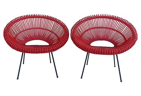 mid century modern slipper chairs by lenoir chair co