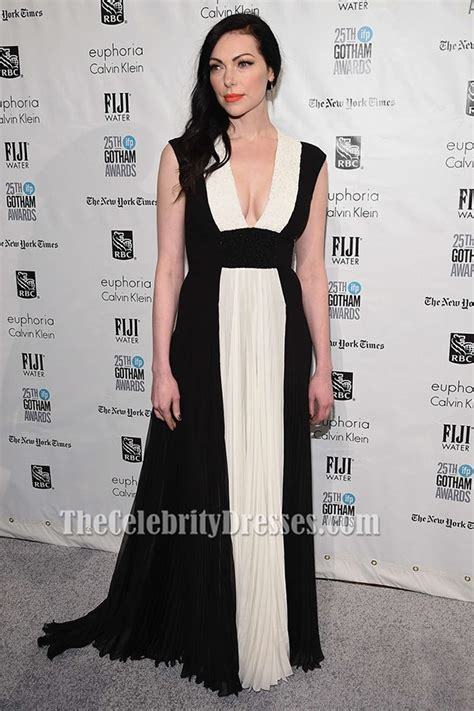 laura prepon white  black evening dress  ifp gotham
