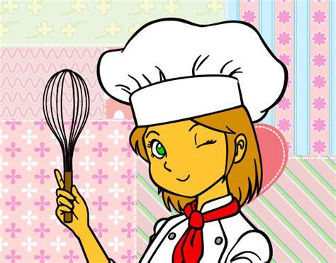 recette de cuisine d ete dessin de cuisinière colorie par le 17 de décembre de