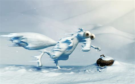 frozen scrat ice age ice age ice age squirrel
