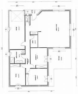 plan maison plain pied 100m2 3 chambres maison iris With ordinary plan de maison 100m2 13 habitats modulaires
