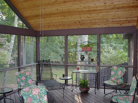 Backyard Screening Options by Screen Porch Columbus Decks Porches And Patios By