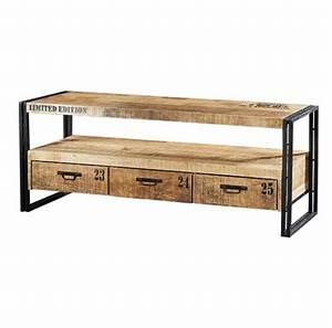 Meuble Tv Hauteur 90 Cm : meuble tv 90 cm largeur tables tele maisonjoffrois ~ Farleysfitness.com Idées de Décoration