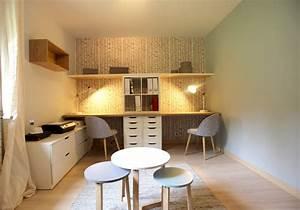 bureau chambre d39ami scandinave bureau a domicile With chambre d amis et bureau