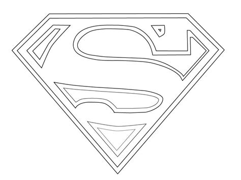 Superman Shield Coloring Pages Coloring Pages