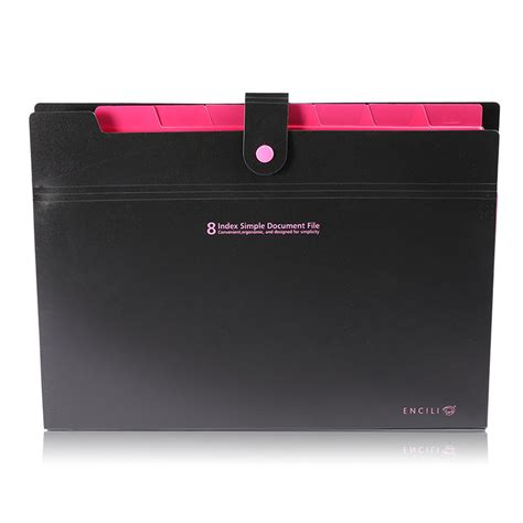 Office Supplies Paper Holder by 8 Layer A4 Paper File Folder Holder Document Storage Bag
