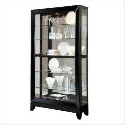 pulaski display glossy black granite curio cabinet ebay