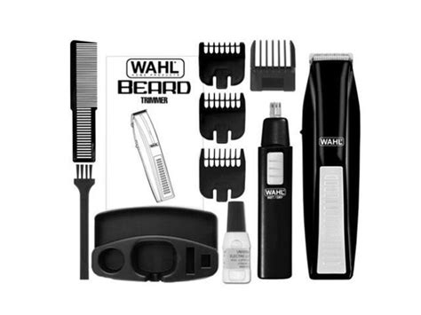 Wahl 5537-1801 Wireless Beard Trimmer With Bonus Ear, Nose
