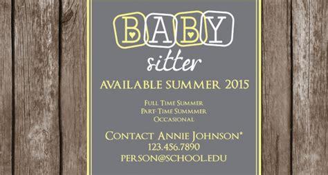 babysitting flyer designs psd  design