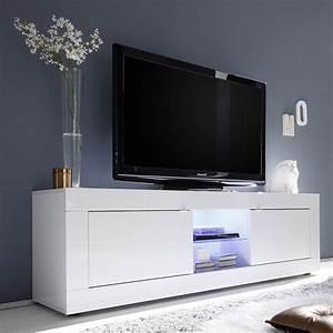 Tele 180 Cm : meuble tv 180 cm blanc laqu design meuble t l 180 cm led blanc ~ Teatrodelosmanantiales.com Idées de Décoration