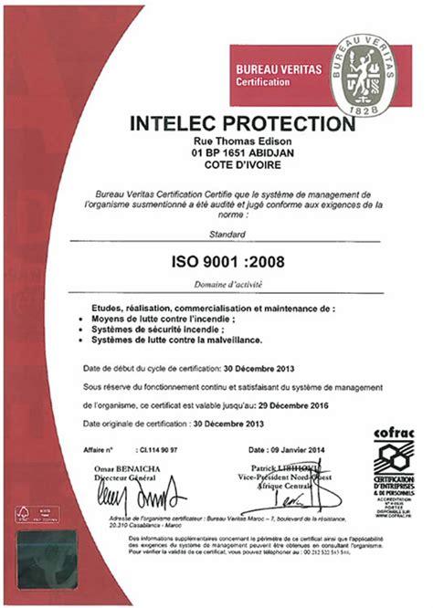 comite entreprise bureau veritas intelec protection certifications