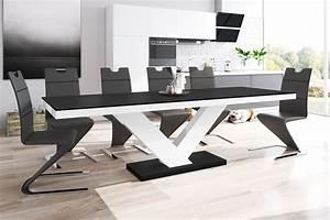 Esstisch Weiß Matt : design esstisch he 999 schwarz matt wei hochglanz kombination ausziehbar 160 208 256 cm ~ Yasmunasinghe.com Haus und Dekorationen