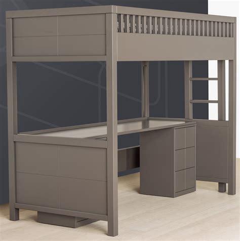 lit mezzanine bureau lit mezzanine quarré avec bureau rabattable quax marques
