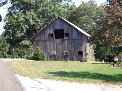 Grey Barn On Local Road In Salem, Ct Photo