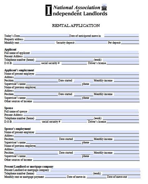 on site rental application form free rental application form real estate forms