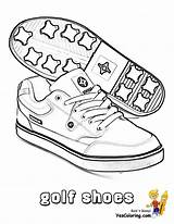 Coloring Golf Shoes Pages Printable Paper Boys Fisted Sport Sports Yescoloring Ball Player sketch template