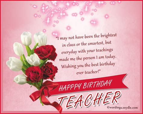 birthday wishes  teacher wordings  messages