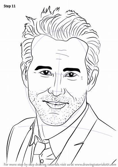 Draw Ryan Step Reynolds Drawing Celebrities Tutorials