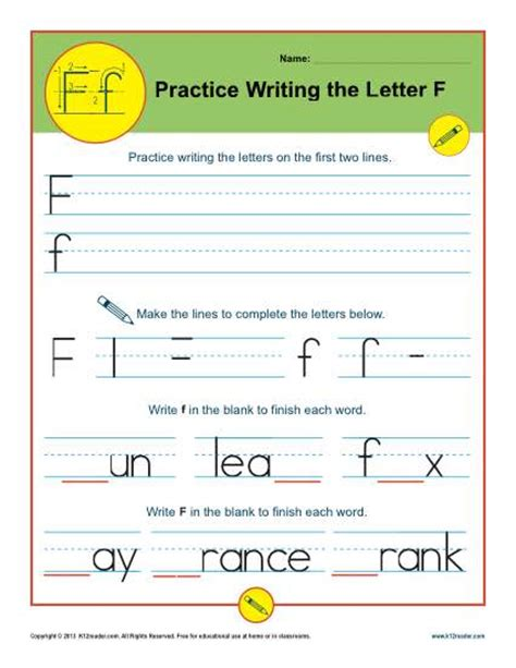letter f worksheets printable handwriting worksheet
