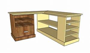 Corner desk plans HowToSpecialist - How to Build, Step