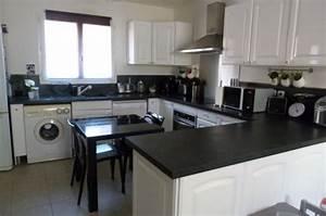 Cuisine Blanc Et Noir : cuisine blanche noir inox 10 photos smarti26 ~ Voncanada.com Idées de Décoration