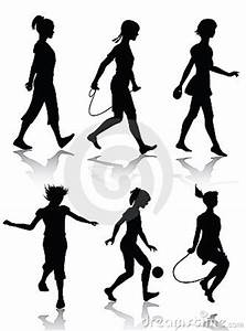 Little Girl Silhouettes Playing Royalty Free Stock Image ...