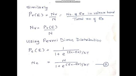 Increases the fermi level should increase, is that. Fermi Level of Intrinsic Semiconductor - YouTube