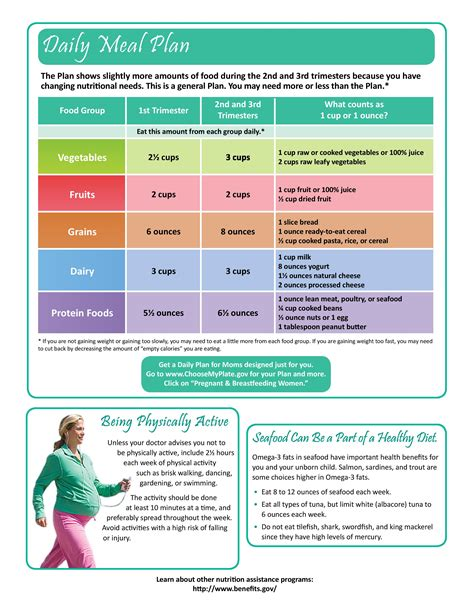 Pregnant Moms Daily Meal Plan See Link Httpwww