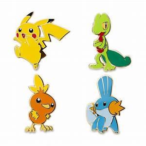 Pikachu Treecko Torchic Mudkip Pokémon Pins Hoenn