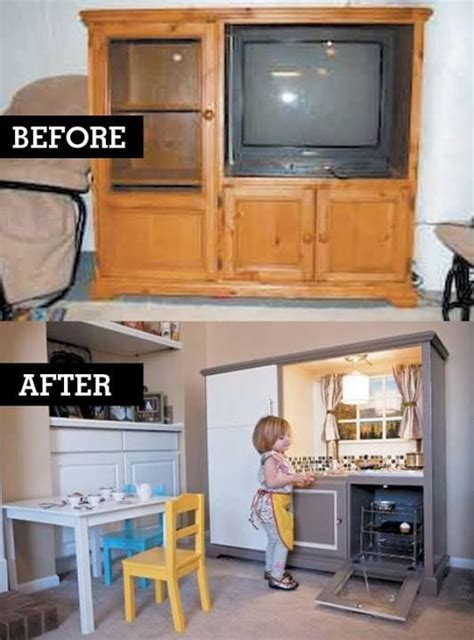play kitchen from furniture entertainment center furniture kid kitchen and entertainment center on pinterest
