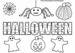 Dessin Facile Halloween : coloriage halloween gommettes criture ~ Melissatoandfro.com Idées de Décoration