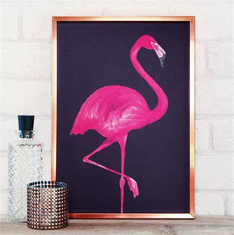 Flamingo Print By Paper Plane   notonthehighstreet.com