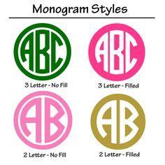 circle monograms enter  initials      change  color
