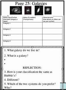 Three Types of Galaxies Worksheet (page 3) - Pics about space