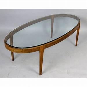 Verre Pour Table Basse : table basse ovale en palissandre et verre ~ Teatrodelosmanantiales.com Idées de Décoration