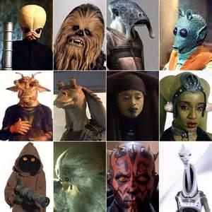 Star Wars Species List