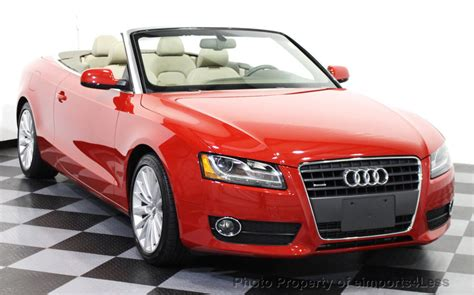 convertible audi red 2012 used audi a5 cabriolet certified 2 0t quattro