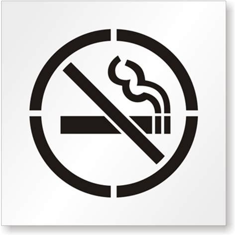 No Smoking Stencils - MySafetySign.com