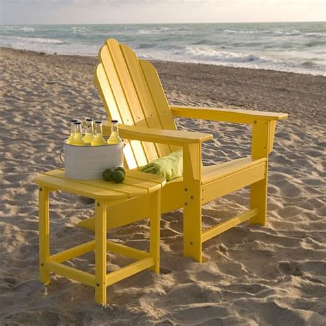 poly wood island adirondack chair