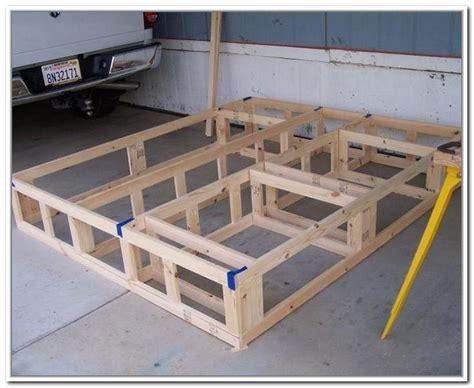 diy king size bed frame  storage bed frame plans