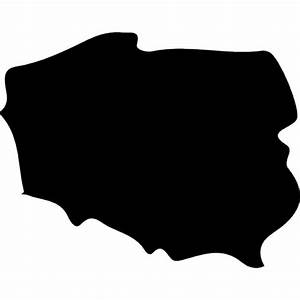 Poland Country Map Silhouette Icons Free Download