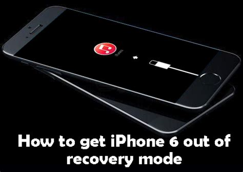 how to fix iphone 6 6 plus stuck in recovery mode